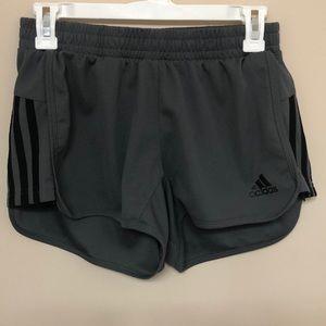 Grey and black Adidas Shorts (size small)